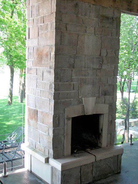 Foyer Extérieur Brique Plan : Foyer extérieur maconnerie saint pierre