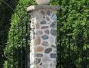 Colonnes d'entrée en pierre