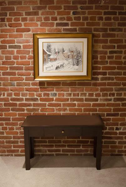 Mur int rieur en briques maconnerie saint pierre Mur en brique rouge